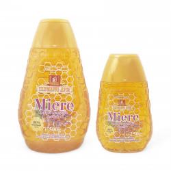 Sage honey in sqeeze bottles