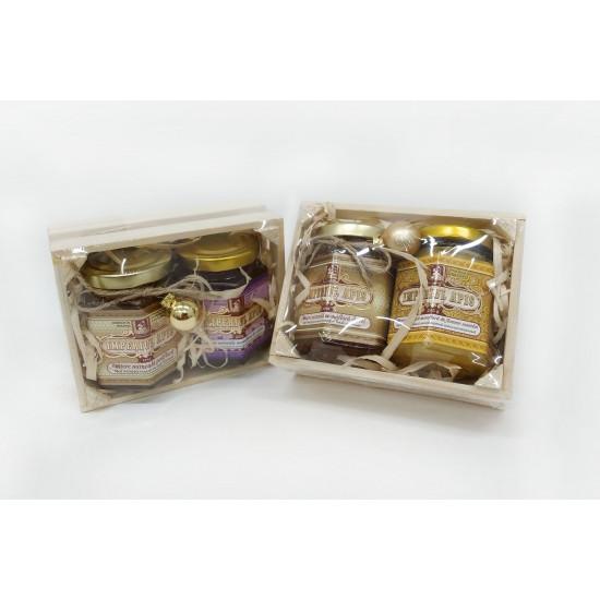 Set of honey in assortment 2 jars x 245 g