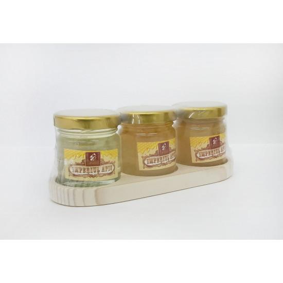 Set of honey in assortment 3 jars x 50 g