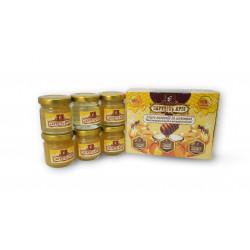 Set of honey in assortment 6 jars x 50 g